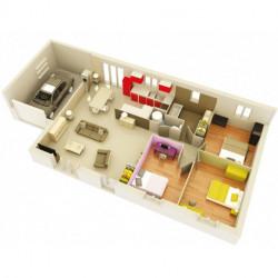 Projet de construction Pierrelatte maison de 90 m² sur terrain de 438 m²