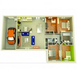 Projet de construction Lapalud maison de 90 m² sur terrain de 612 m²