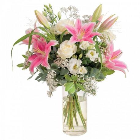 Pur délice - bouquet de lys et de roses