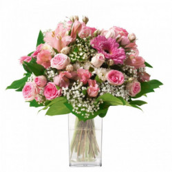 Bonheur - bouquet de fleurs rond