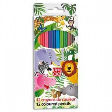PLEIN CIEL Pochette de 12 crayons de couleur assortis