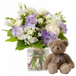 Bouquet Bleu Calin / Rose Calin