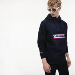 sweatshirt capuche Lacoste marine