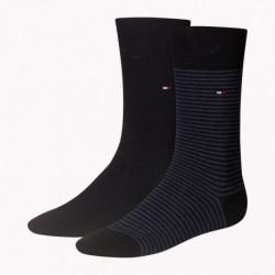 Lot de 2 paires de Chaussettes marine et noire - Tommy Hilfiger