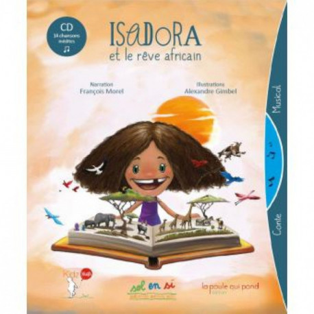 Isadora et le reve africain - livre CD