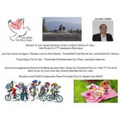 Samedi 16 Juin Venez Nombreux Gravir Le Mont Ventoux À Vélo – Vélo Route Ou VTT Assistance Électrique