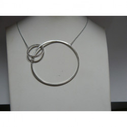 Collier Argent Oxyde Double Rond