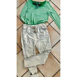 Pantalon jogging à bande clous argentés