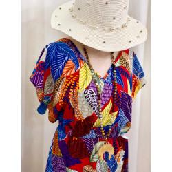 Robe longue coloré à motifs