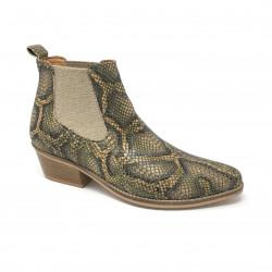 Bottine python kaki Minka