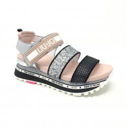 Sandale plateforme silver pink Liu Jo
