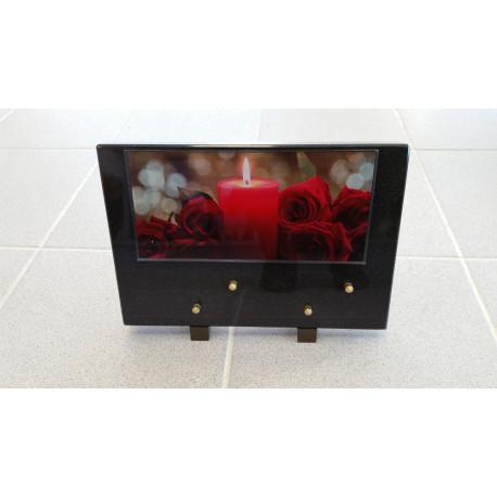 Plaque granit avec photo 21X30