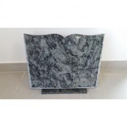 Plaque granit en forme de livre à graver