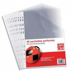 PLEIN CIEL Sachet de 50 pochettes perforées en polypropylène 9/100e