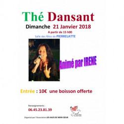 Thé dansant 21.01.2018 à 15h00 Salle des fêtes de Pierrelatte 26700