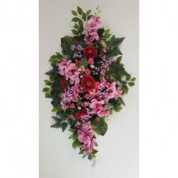 Dessus de cercueil en fleurs artificielles