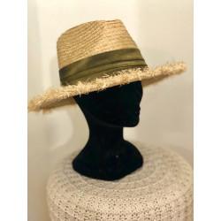 Chapeau en paille OR & bandeau bronze