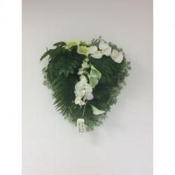 Composition florale artificielle coeur
